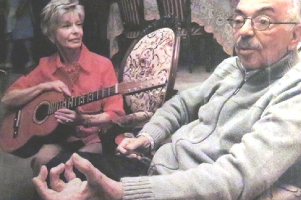 Imagen Jorge Villamil con Olga Acevedo