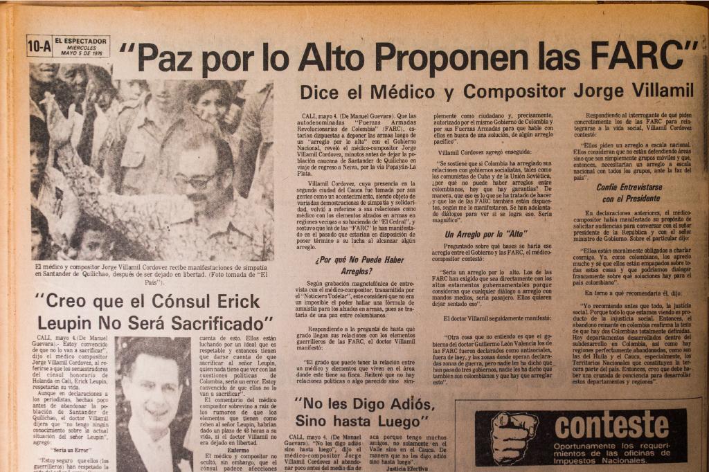 El Espectador. Mayo 4 de 1976