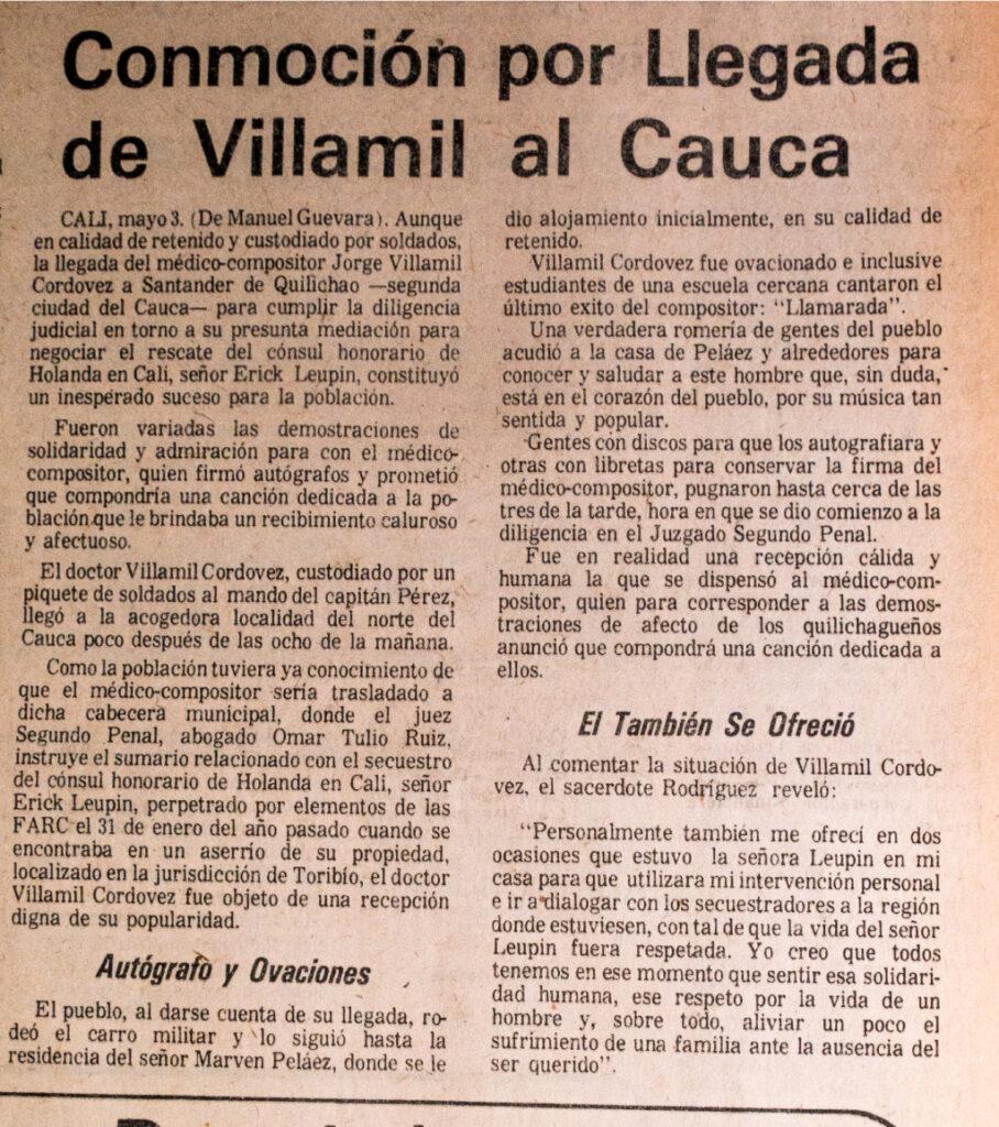 Imagen El Espectador, mayo 5 de 1976